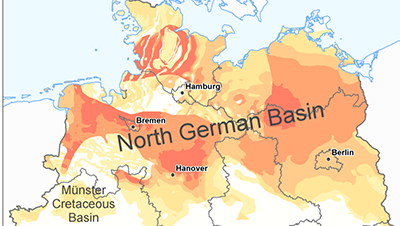 North Germany map